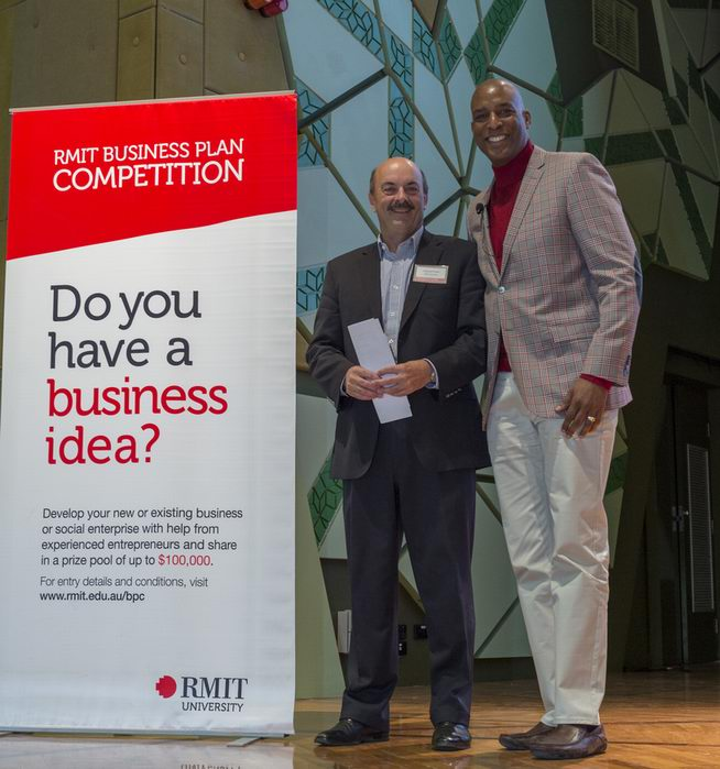 Dr Marcus Powe, RMIT's Entrepreneur in Residence and Guest Speaker Eric Bailey